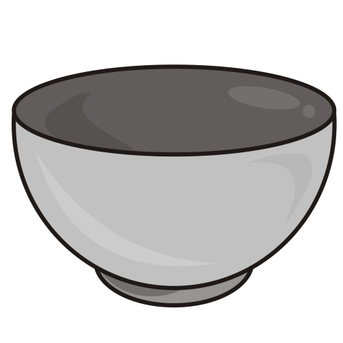 Bowl Black And White Clipart#1882663.
