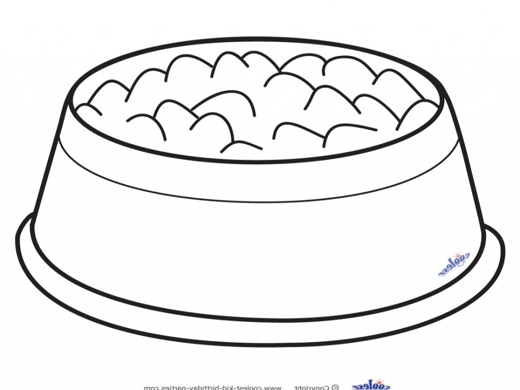 Dog bowl clipart black and white clip art library.