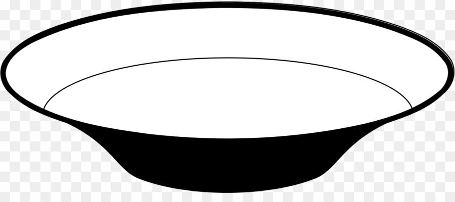 Plato Black And White PNG Plate Bowl Clipart download.
