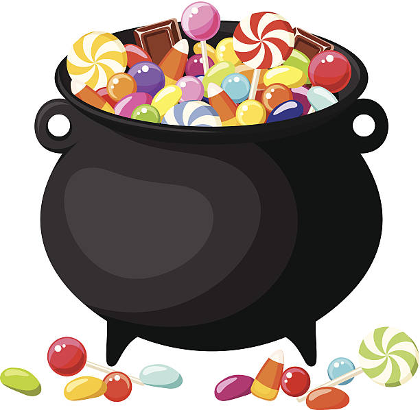 Halloween Candy Bowl Clipart.