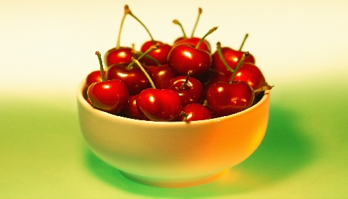 Cherry bowl of cherries clipart image #19239.