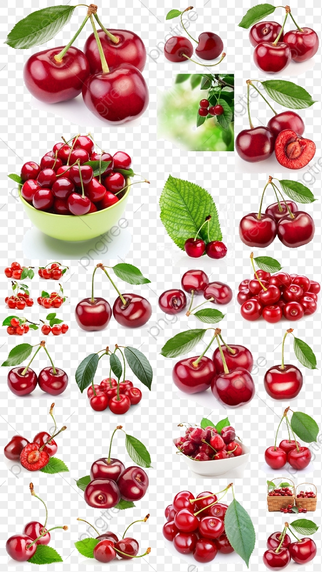 Bowl Of Cherries, Cherry, Fruit, Product Kind PNG Transparent Image.