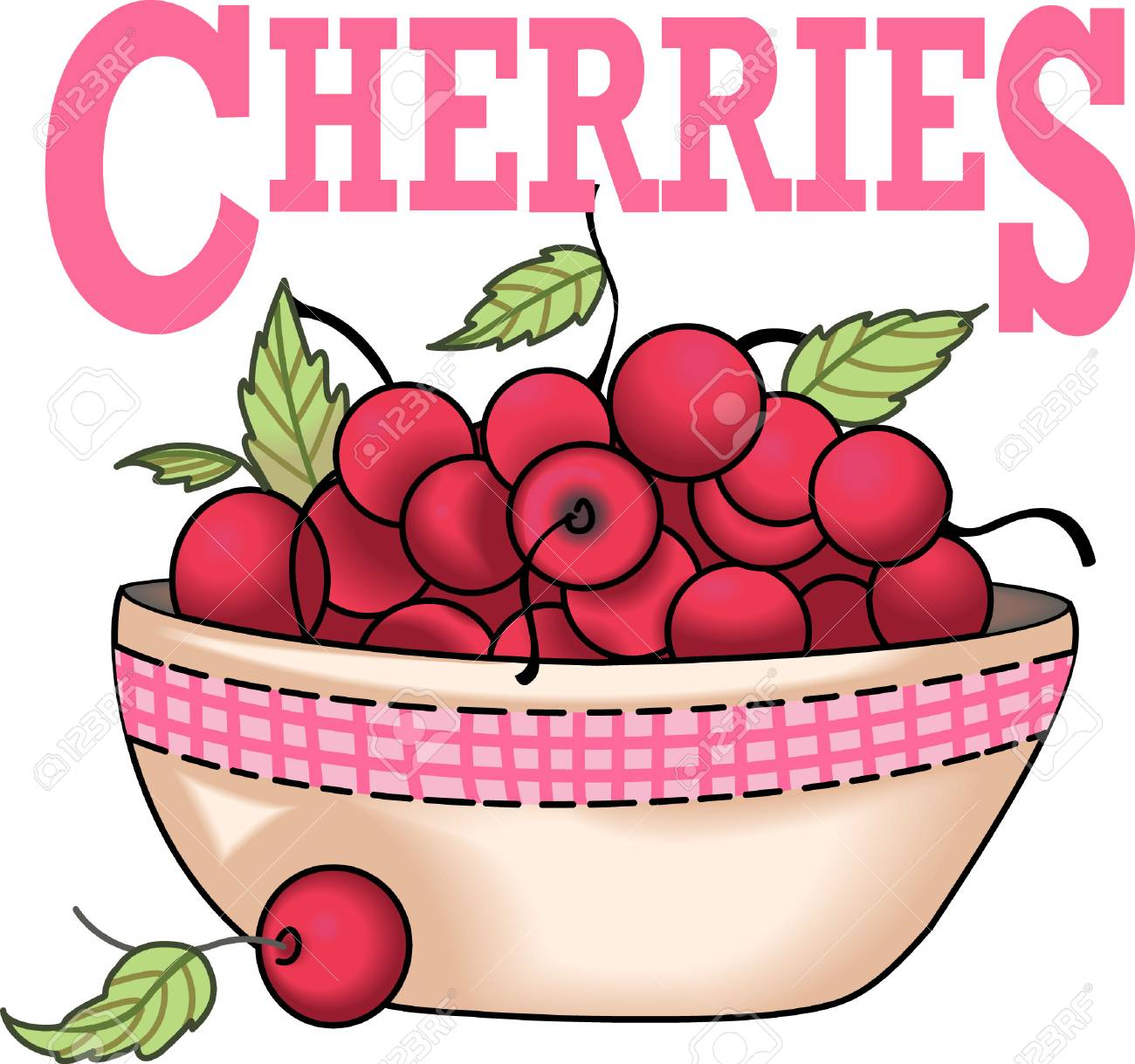 A bowl of cherries design is perfect for your kitchen. Get these...