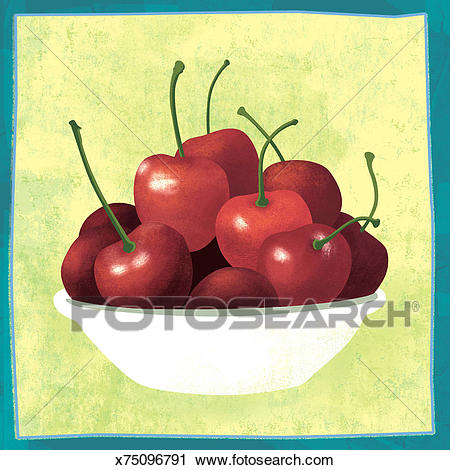Bowl Of Cherries Clip Art.