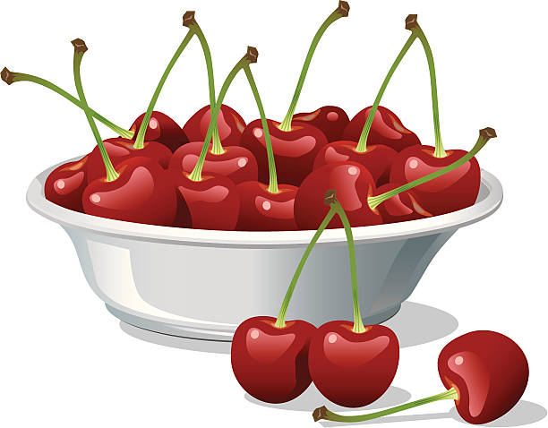 Best Cherry Bowl Illustrations, Royalty.