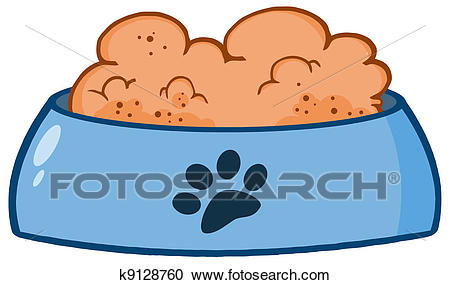 Dog Bowl With Food Clipart.