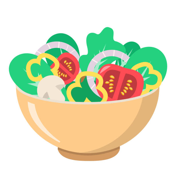Best Salad Bowl Illustrations, Royalty.