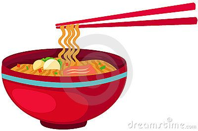 noodle bowl logo vector.