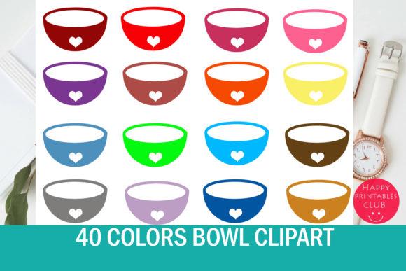 40 Bowl Clipart.