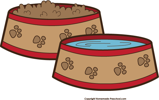 Dog bowl dog food clipart clipartxtras.