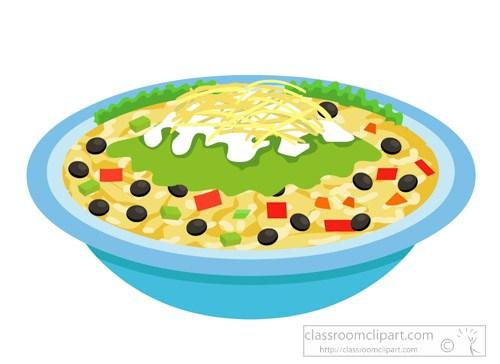 Burrito bowl mexican food clipart » Clipart Portal.
