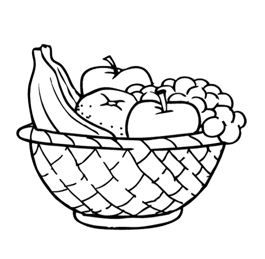Fruit black and white bowl of fruit clipart black and white.