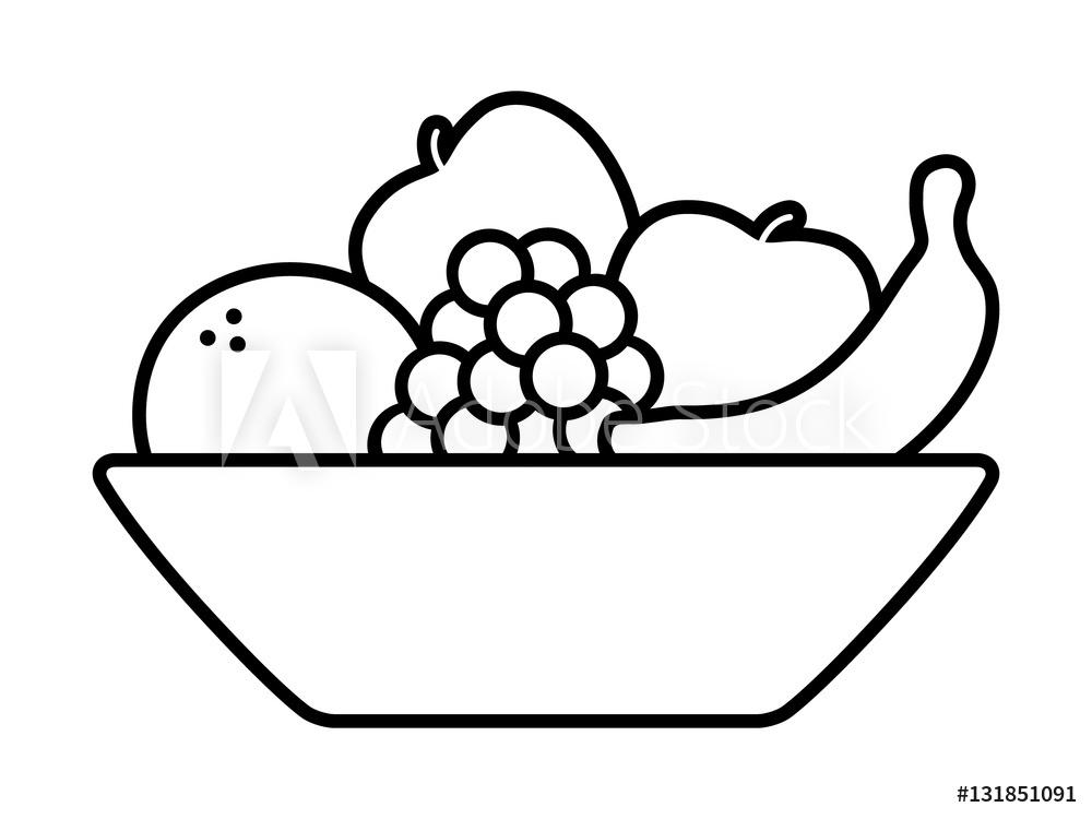 Photo & Art Print Bowl of fruit / fruits with orange, banana.