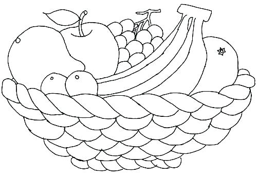 fruit coloring pages a bowl of fruit coloring page trail of.