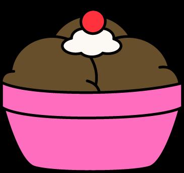 Bowl Chocolate Ice Cream Clip Art.