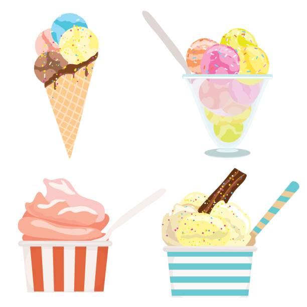 Best Ice Cream Bowl Illustrations, Royalty.