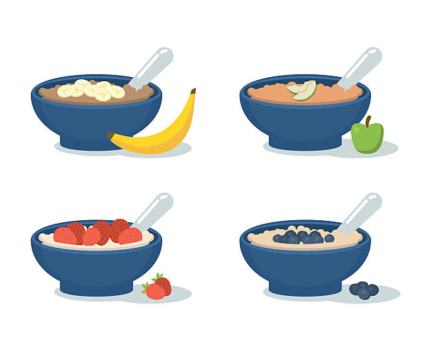 Best Oatmeal Bowl Illustrations, Royalty.