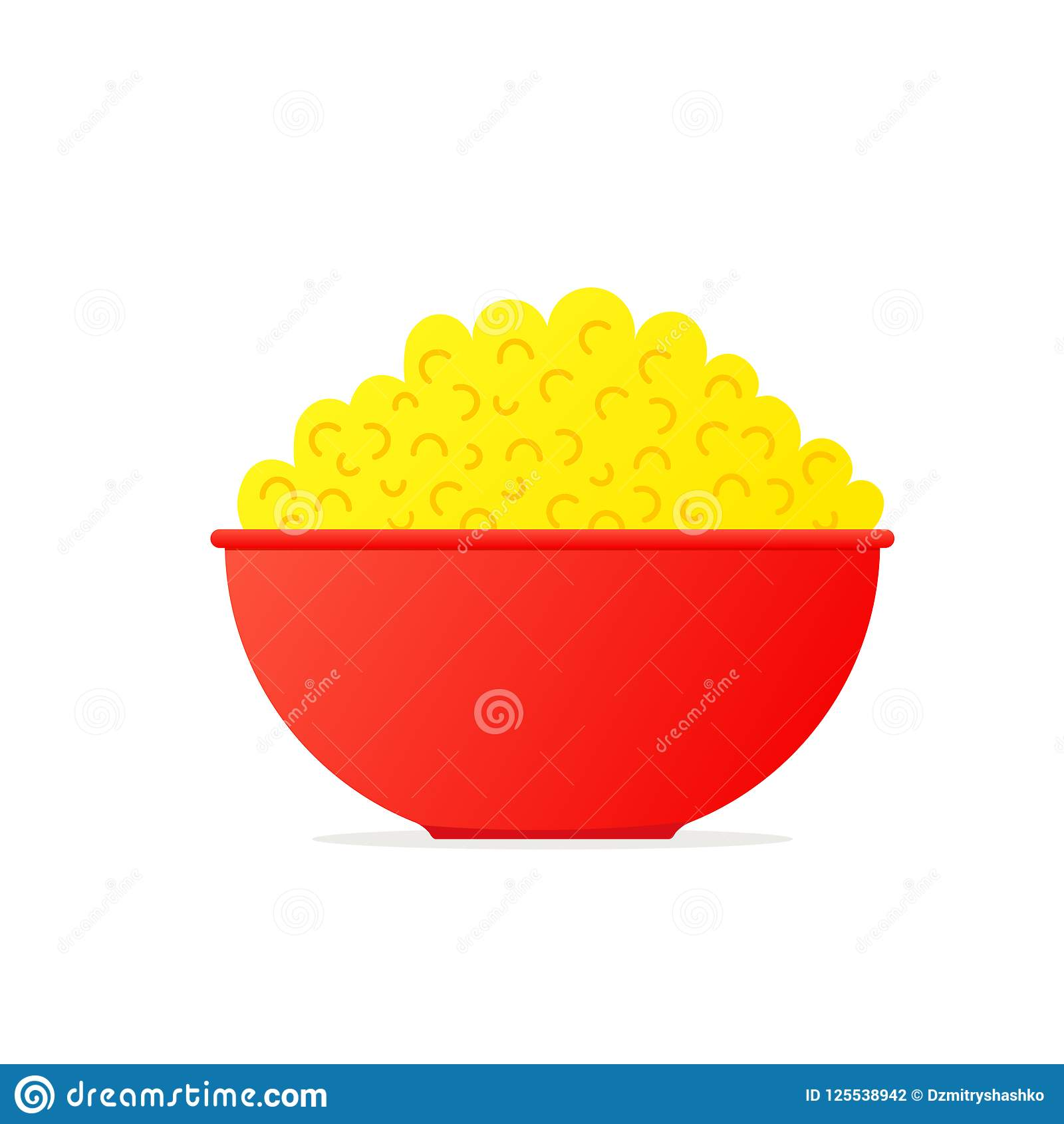 Popcorn In Bowl icon stock vector. Illustration of appetizing.