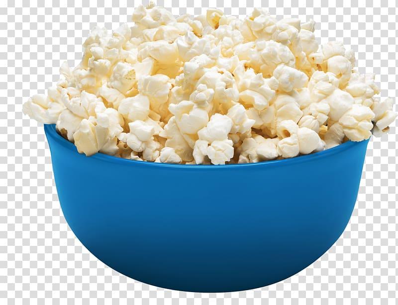 Popcorn on blue bowl , Popcorn Kettle corn Pop Secret Orville.