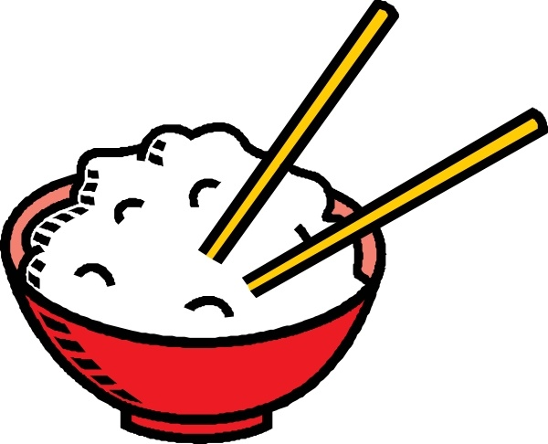 Bowl Of Rice clip art Free vector in Open office drawing svg.