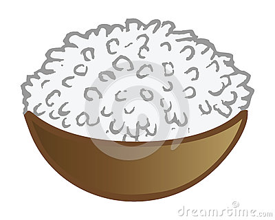White rice clipart.