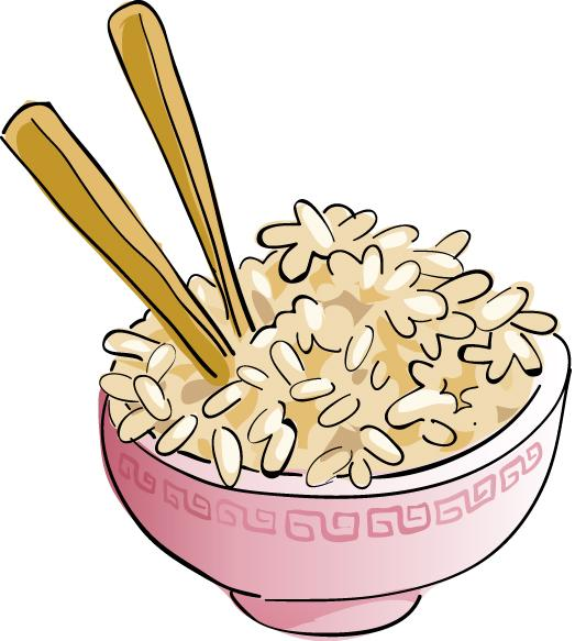Clip Art Plate Of Rice Clipart.