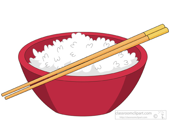 Bowl of rice clipart.