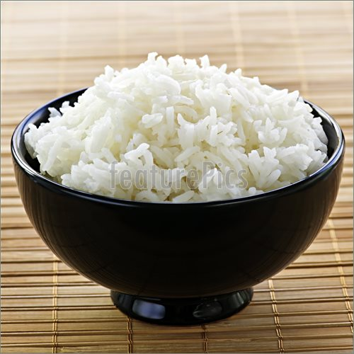 Black And White Rice Bowl Clipart.