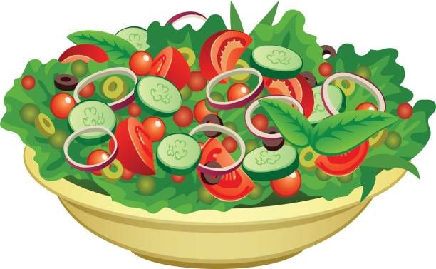 Royalty Free Salad Bowl Clip Art, Vector Images.