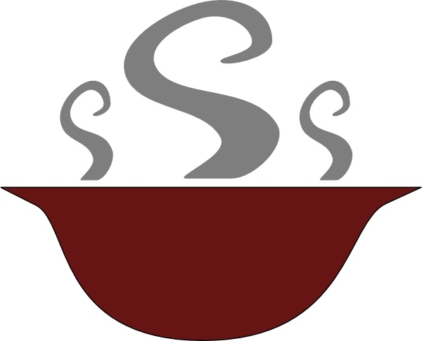 Bowl Of Steaming Soup clip art Free vector in Open office.