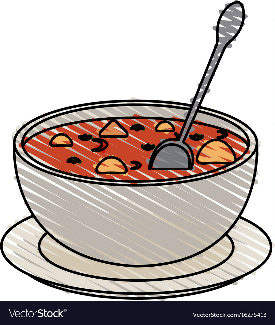 Hot soup bowl icon.