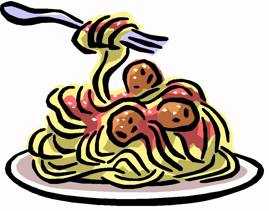 Plate Of Pasta Clipart.