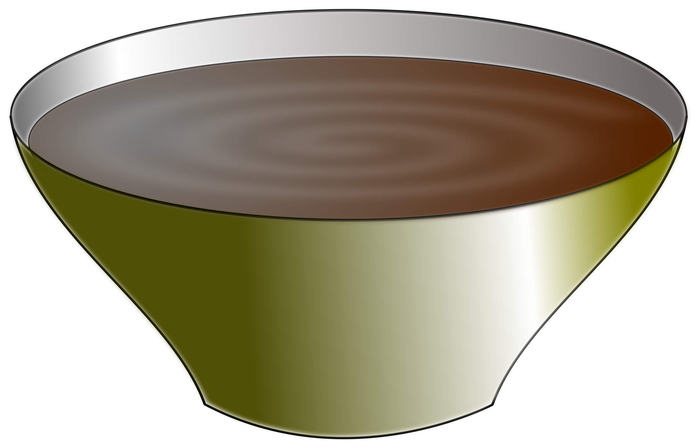 Bowl with Soup vector clipart image.