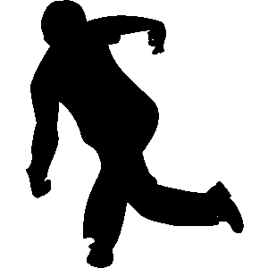 People bowling clipart.