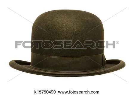Stock Photography of A Black Derby or Bowler Hat k15750490.