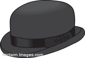 Clip Art Picture of a Bowler Hat.