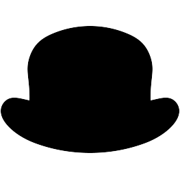 Bowler hat clipart free.