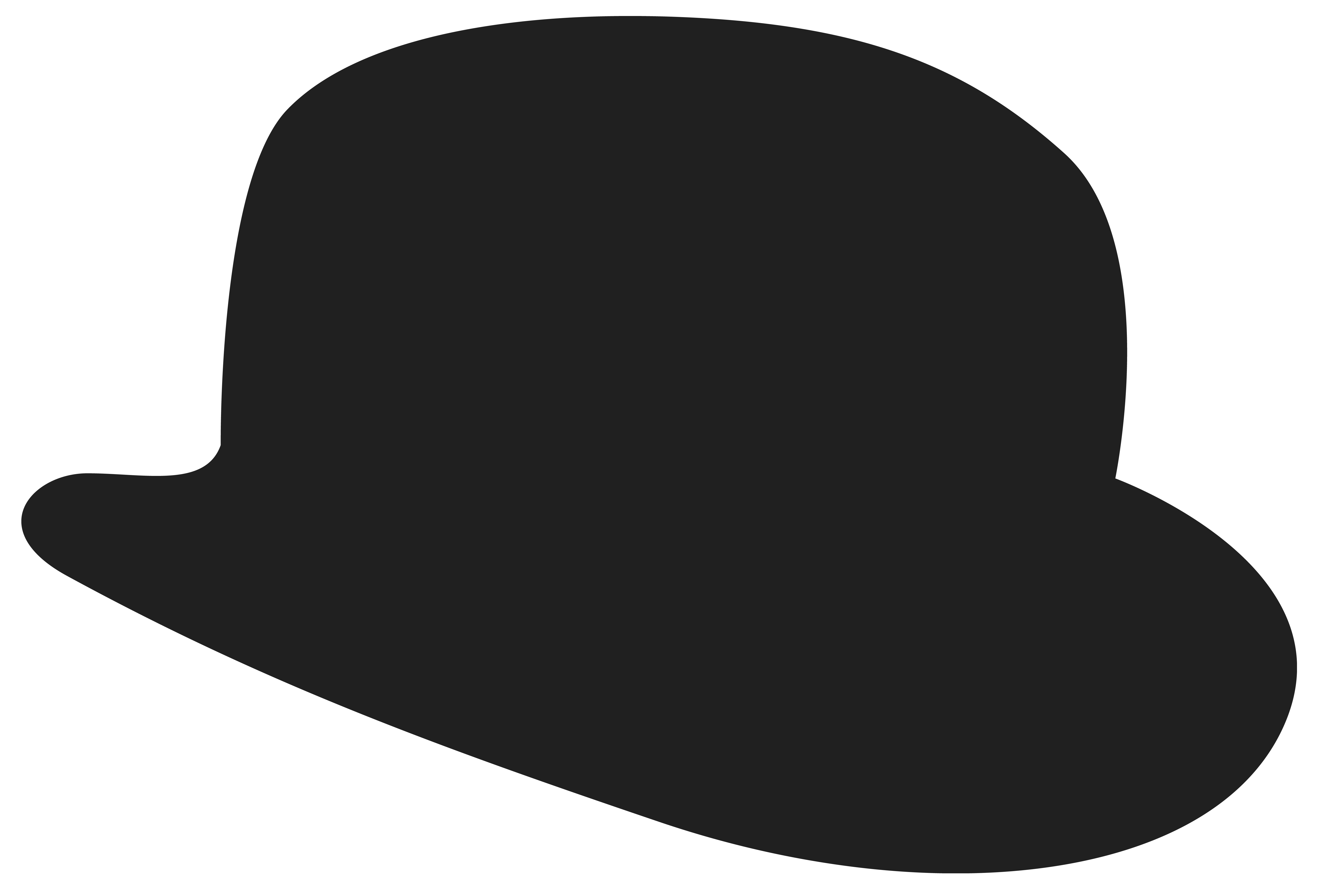 Movember Bowler Hat Clipart Image.