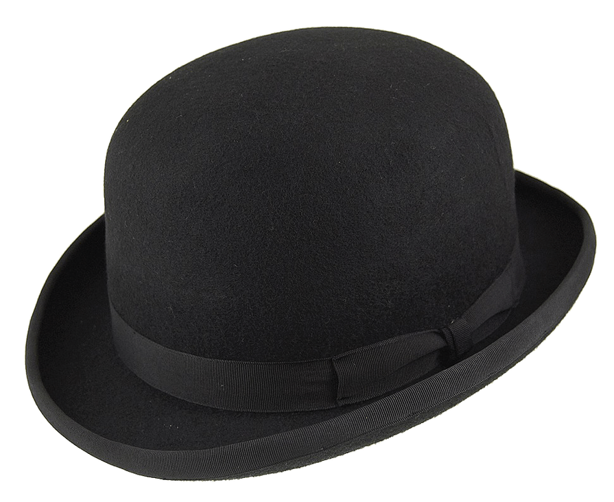 Bowler Hat transparent background.