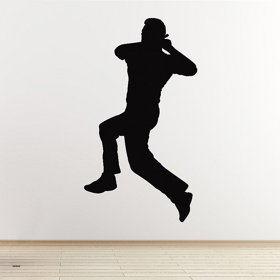 Logo Wall Decal Unique Cricket Wall Sticker Spin Bowler.