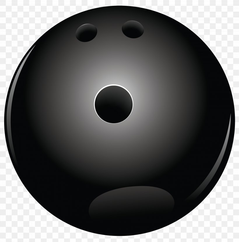 Bowling Ball Black And White Sphere Wallpaper, PNG.