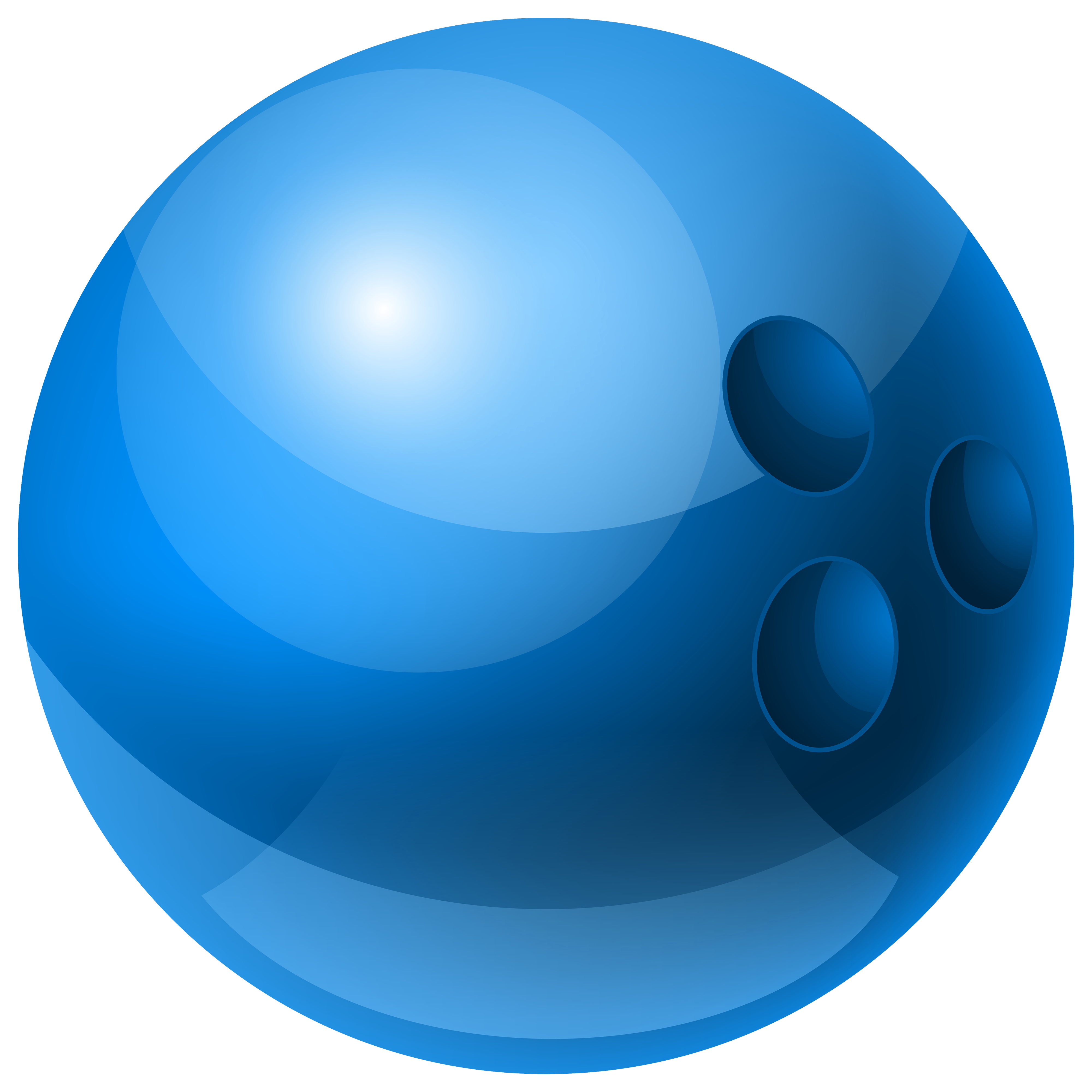 Blue Bowling Ball PNG Clipart.