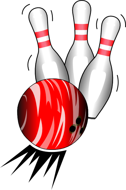 Bowling ball and pins clip art cliparts.