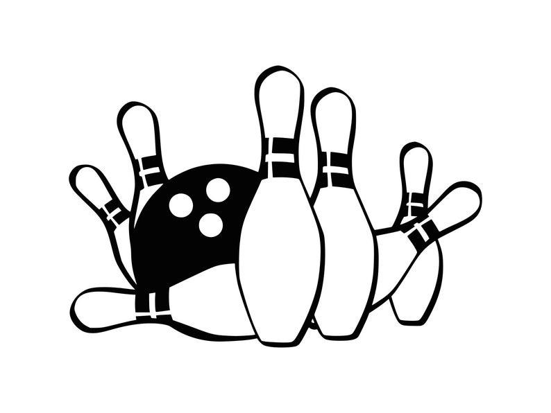 Bowling Svg Bowling Ball Svg Bowling Clipart Bowling, Cut File Dxf Bowling  Pin Svg Bowling Silhouette Bowling Dxf Bowling Clip Art.