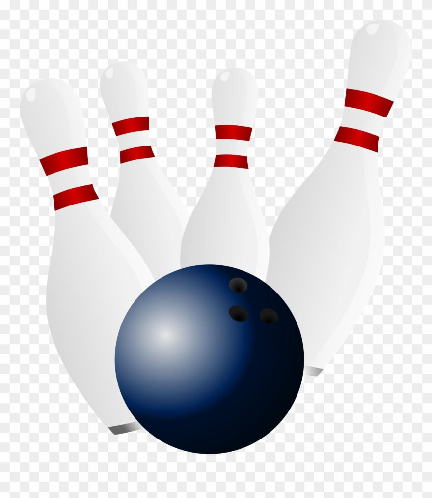 Bowling Pins And Ball Clip Art.