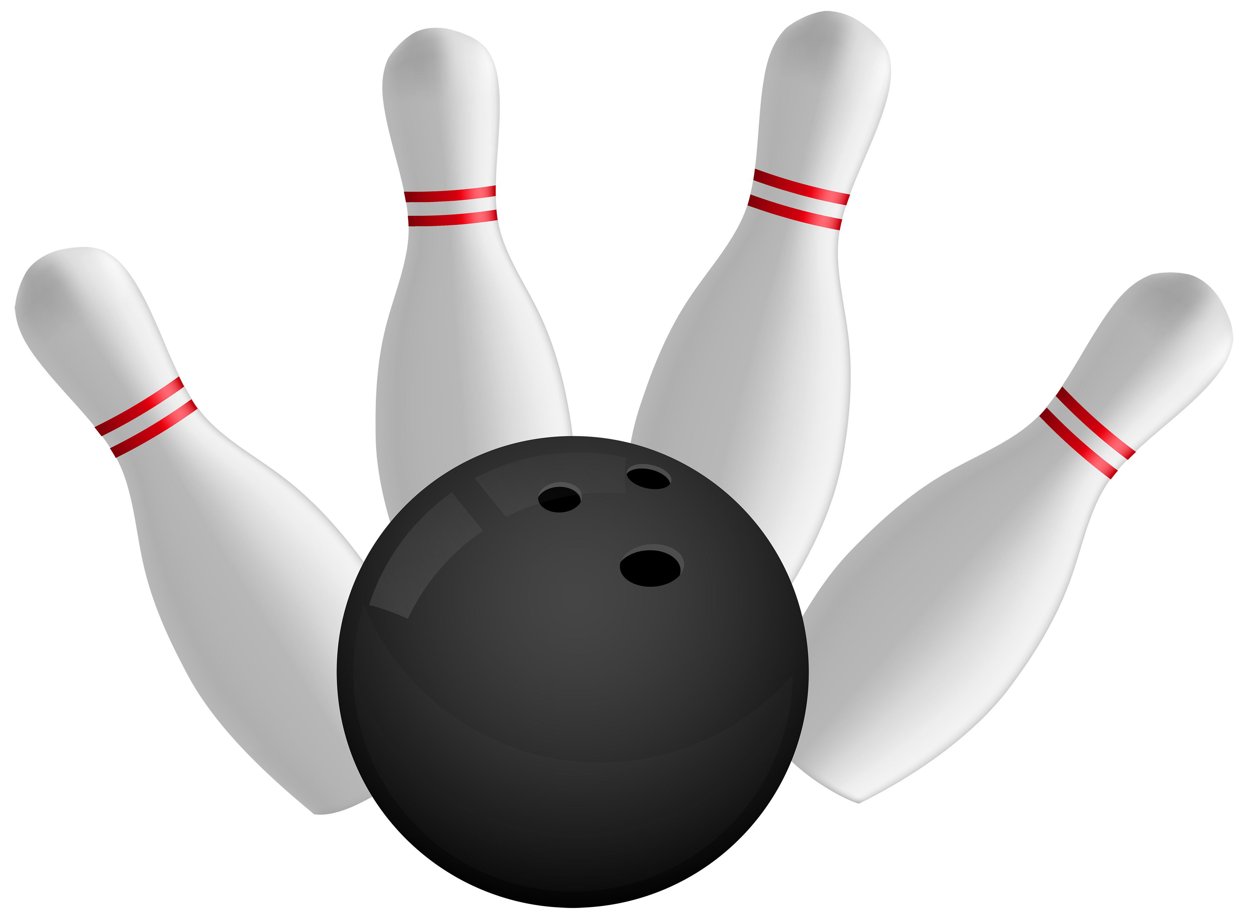 Bowling Ball and Pins PNG Clipart.