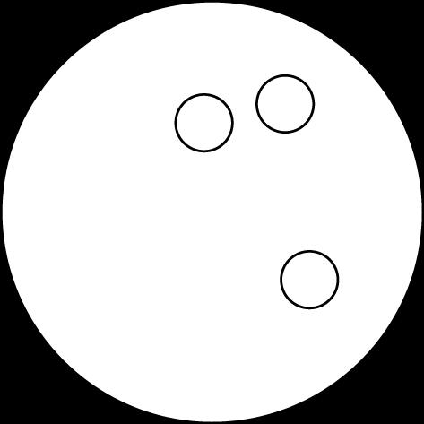 Black & White Bowling Ball Clip Art.