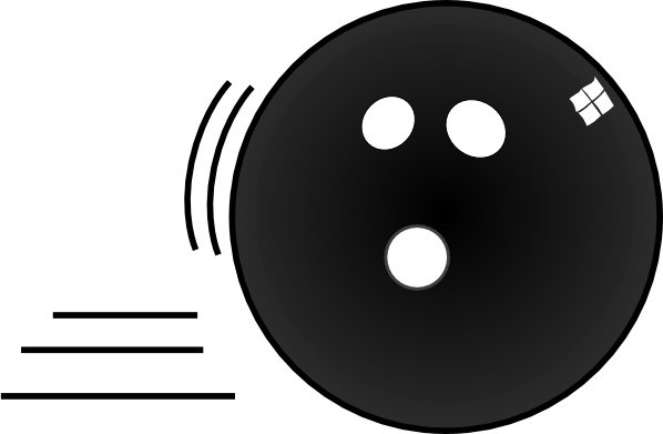 Bowling Ball clip art Free vector in Open office drawing svg.