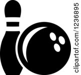 8 Bowling Pin Icon White Images.