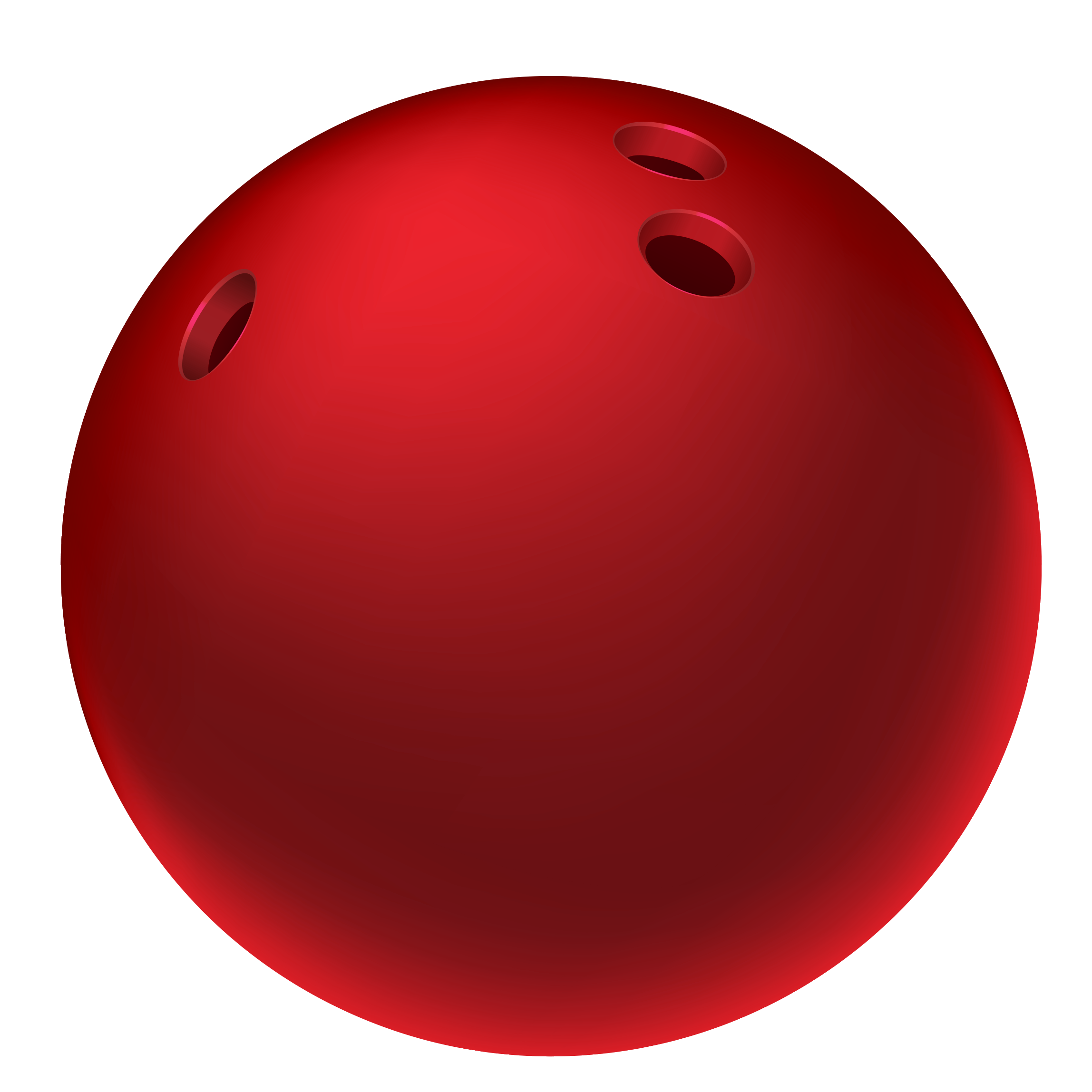 Red Bowling Ball PNG Clipart Picture.